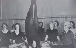 Yogini Sunita in a yoga pose