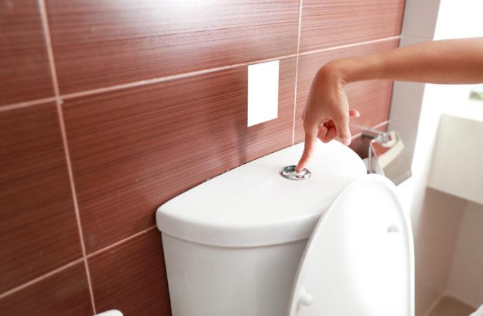 toilet flushing