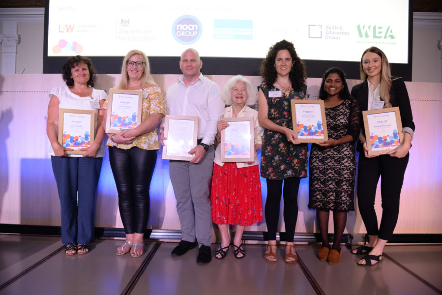 Sylvia pictured with the Festival of Learning finalists