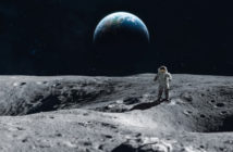 Image of an astronaut on the surface of the moon