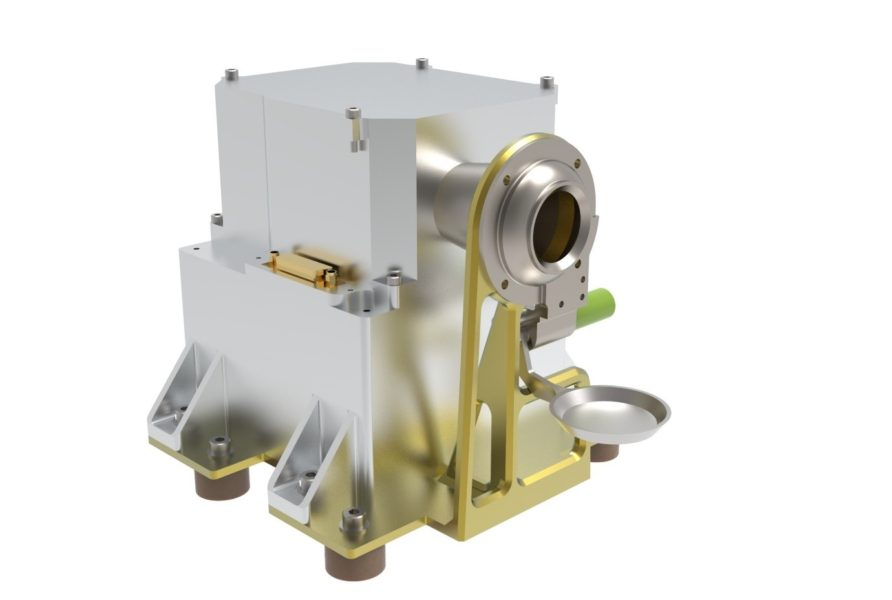 The PITMS instrument to monitor the very thin atmosphere near the surface of the Moon.