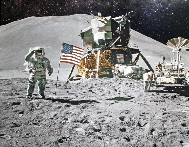 Moon landing image