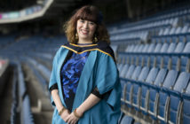 Kathryn at Croke Park in her robes