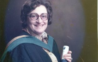 Iby Knill at her graduation ceremony