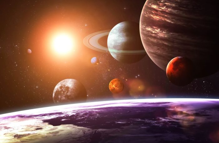 Image of planets in the Solar System