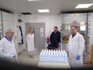 Team of four scientists at the OU