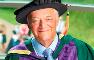 Clive Emsley, on receipt of honorary doctorate from Edge Hill University, 2016
