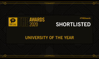 Times Higher Education Awards shortlisted banner