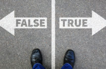 Arrows pointing in opposite directions stating 'true' and 'false'