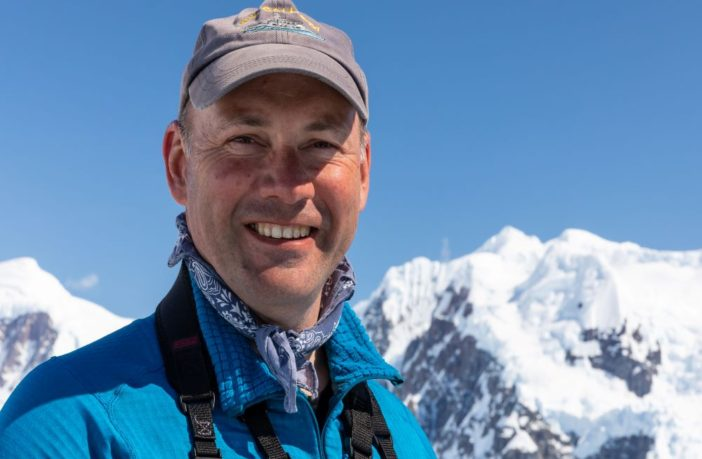 Professor Mark Brandon in Antarctica