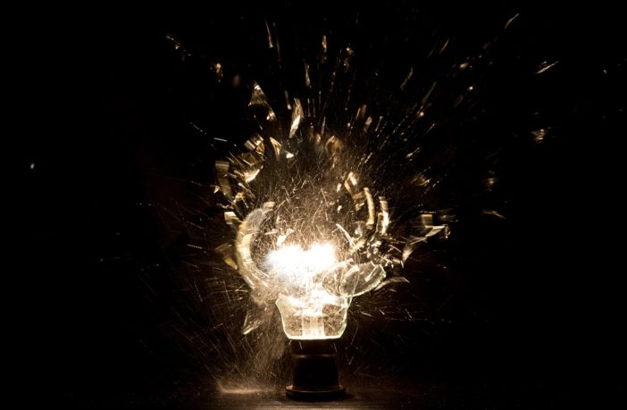 lightbulb explosion
