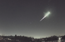 Fireball falling to Earth.