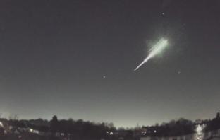 Fireball falling to Earth.