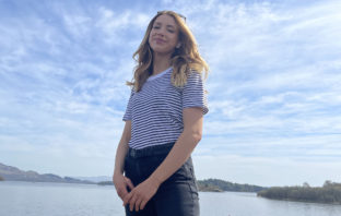 OU student entrepreneur Erin at home in Loch Lomond