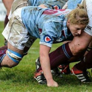 Student Abi playing rugby for the RAF