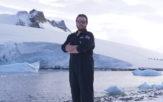 Engineering student Alex in Antarctica