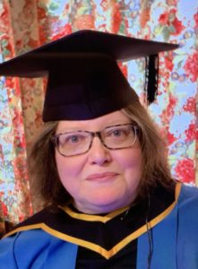 Charlotte celebrates her Open University graduation